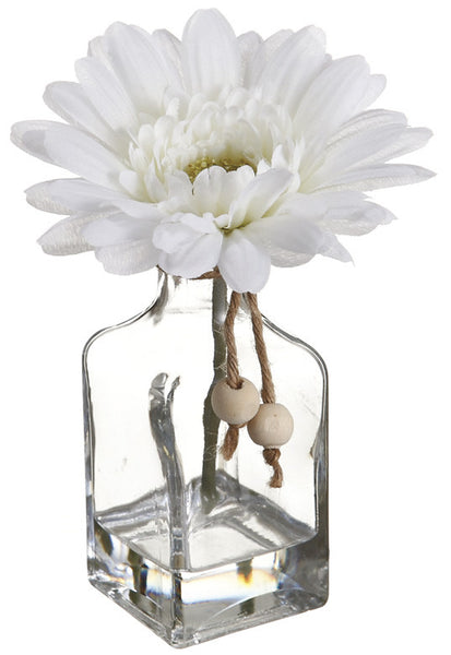 Gerbera Daisy Bouquet in Glass Vase, Quantity of 3
