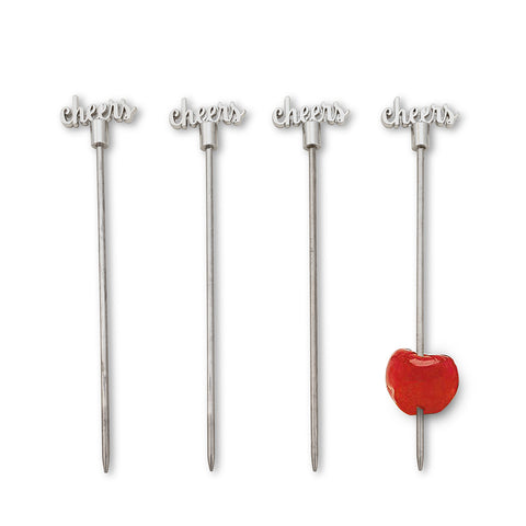 Cheers Cocktail Picks - Set of 4