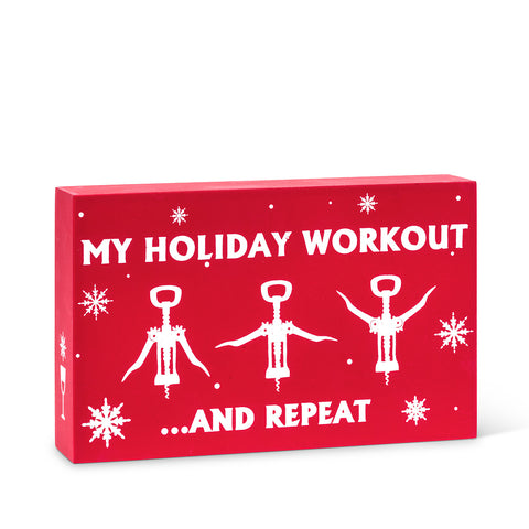 My Holiday Workout Block Sign