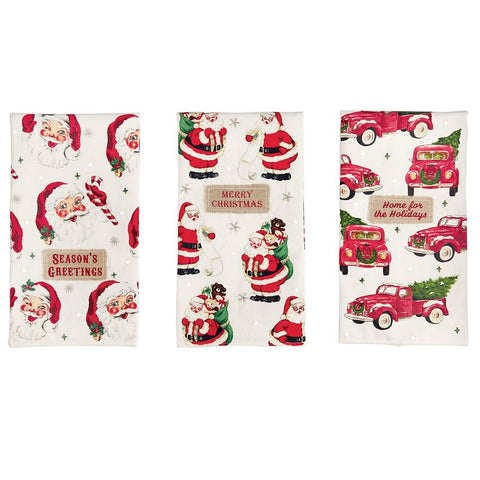 Christmas Embellished Towels (each item sold separately)