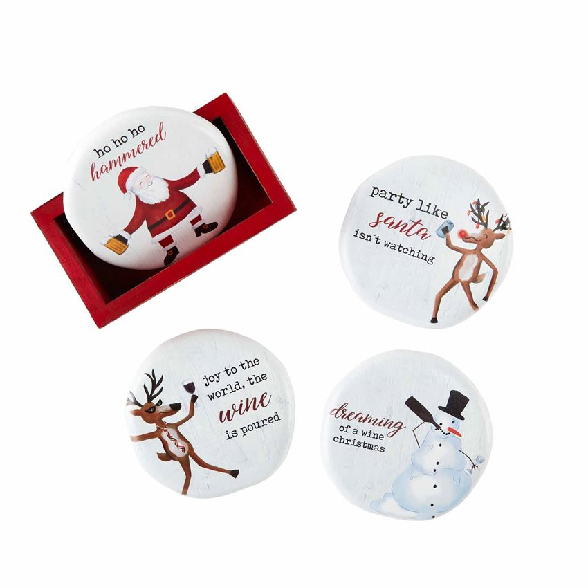 Christmas Drinking Coaster Set