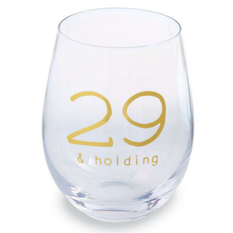 Milestone Boxed Birthday Stemless Wine Glasses
