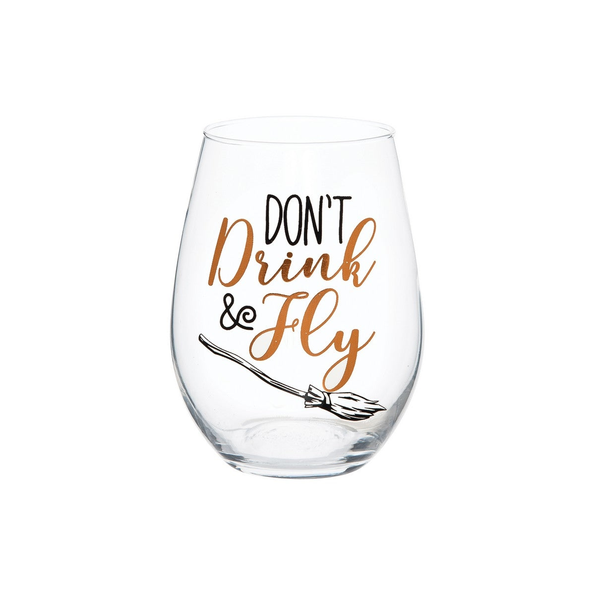 Don't Drink & Fly Stemless Wine Glass