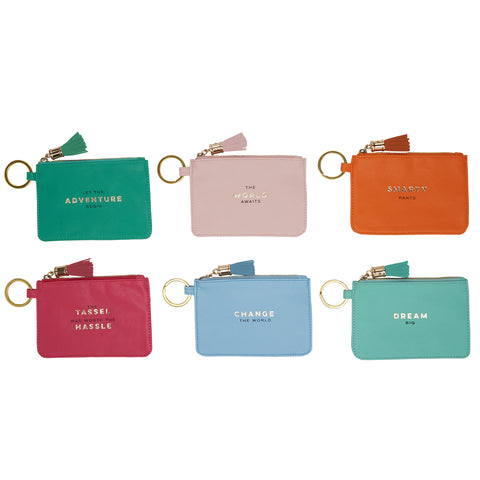 ID Pouches with Tassel and Key Ring (6 Styles Available)