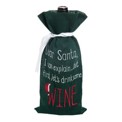 Dear Santa I Can Explain Wine Bag