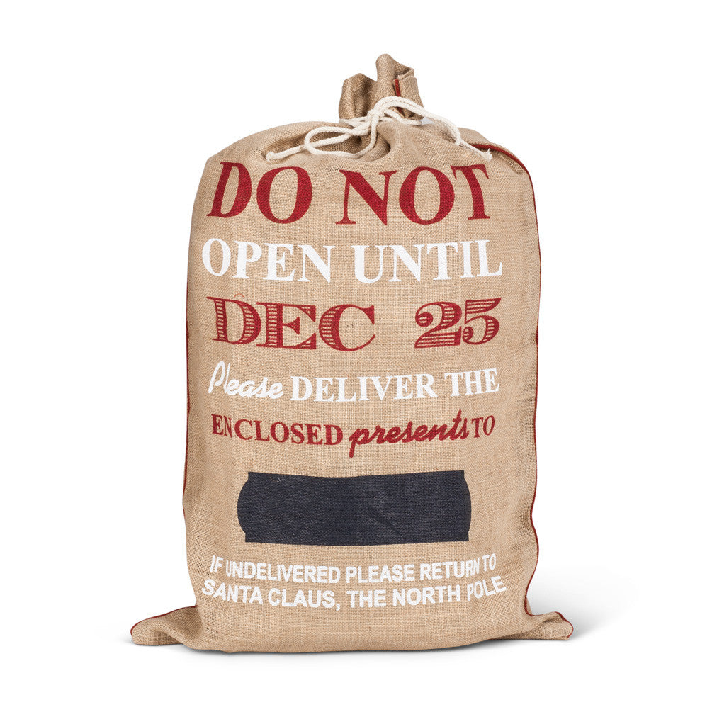 Christmas Burlap Bags - Time Your Gift - 1
