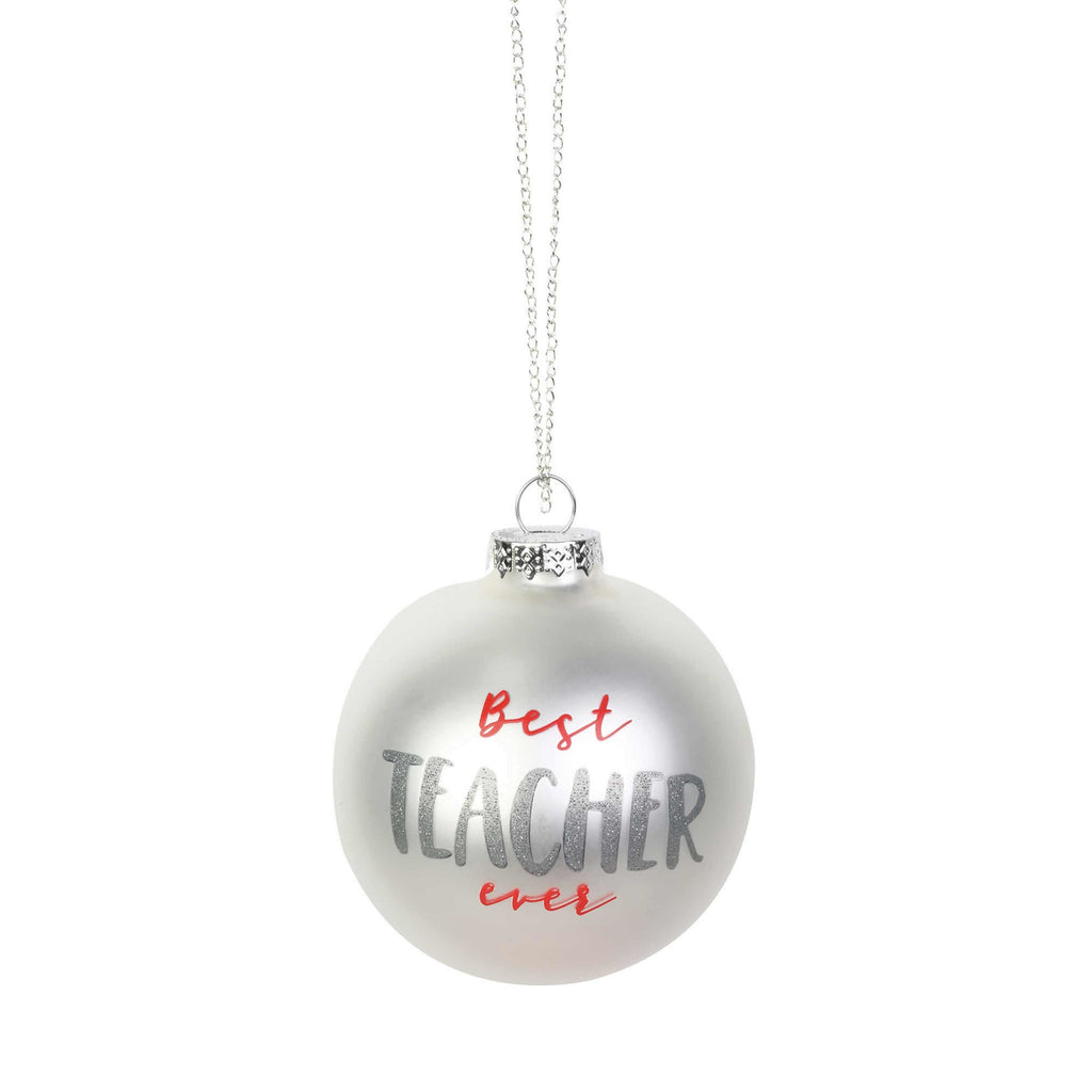 Teacher Glitter Ornament