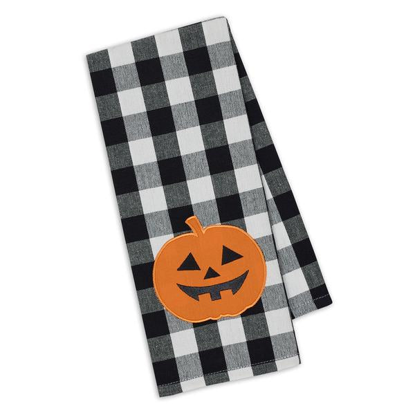Pumpkin Embellished Dishtowel