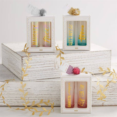 Holiday Shot Glass Sets (each set sold separately)