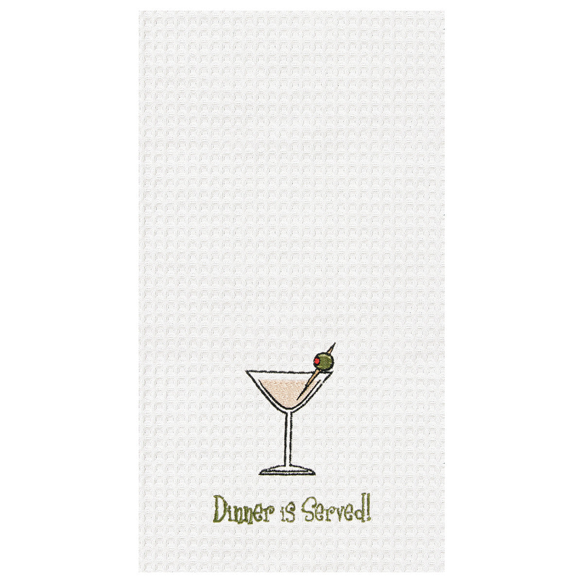 Dinner is Served! Kitchen Towel - Time Your Gift
