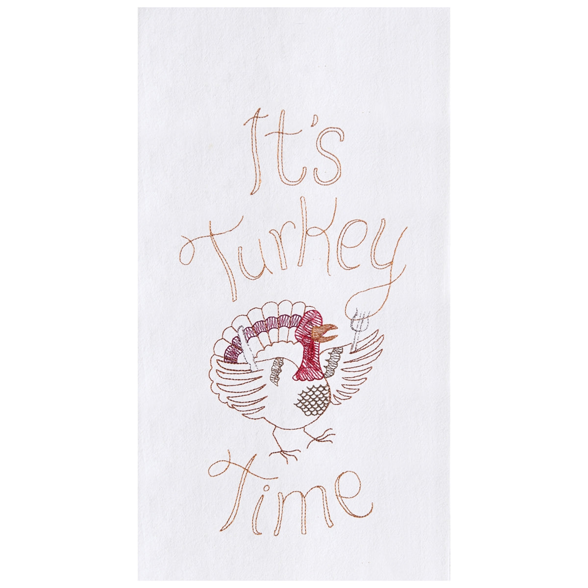 It's Turkey Time Flour Sack Towel