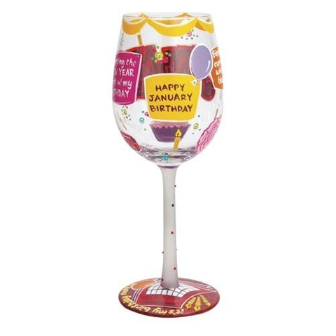 Lolita Months of the Year Wine Glasses - Time Your Gift