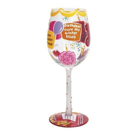 Lolita Months of the Year Wine Glasses November