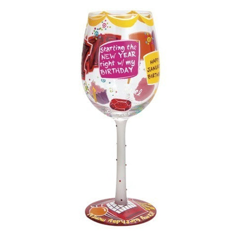 Lolita Months of the Year Wine Glasses October
