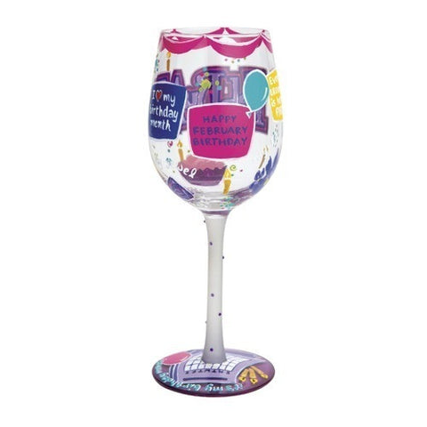 Lolita Months of the Year Wine Glasses July