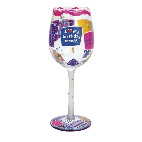 Lolita Months of the Year Wine Glasses May