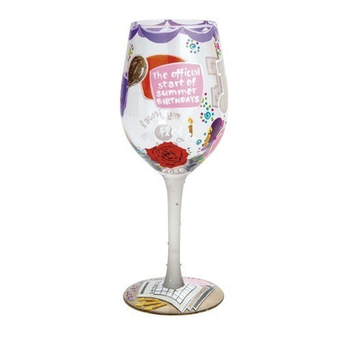 Lolita Months of the Year Wine Glasses - Time Your Gift - 25