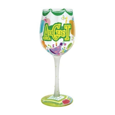 Lolita Months of the Year Wine Glasses August