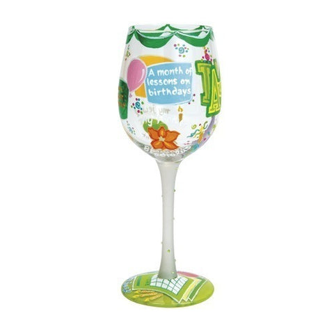 Lolita Months of the Year Wine Glasses - Time Your Gift - 34