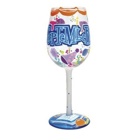 Lolita Months of the Year Wine Glasses September