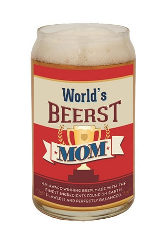 World's Beerst Mom Beer Can Glass