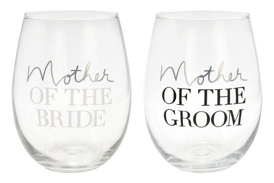 Mother of the Bride / Mother of the Groom - Wine Glass Set