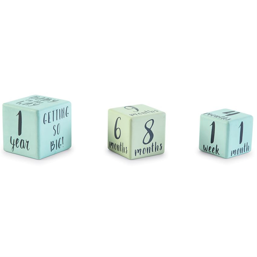Colored Milestone Blocks from Mud Pie (Pink or Blue)