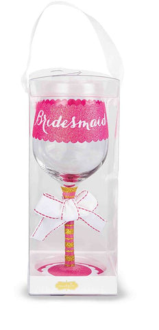 Bridesmaid Wine Glass - Time Your Gift - 2