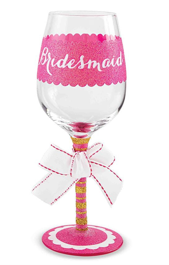 Bridesmaid Wine Glass - Time Your Gift - 1