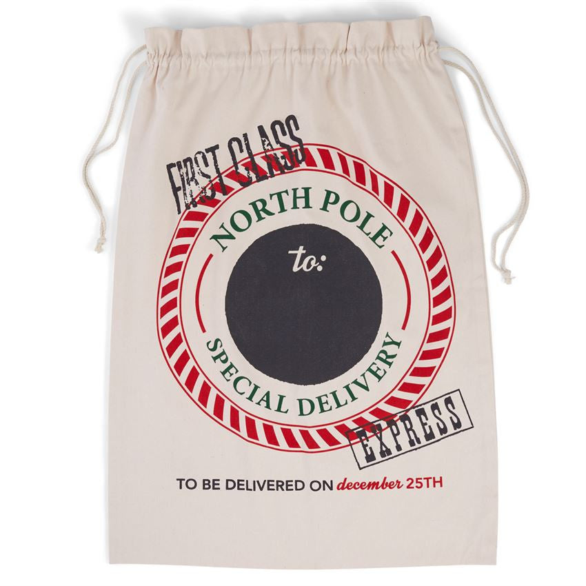 Canvas Christmas Gift Sacks - Time Your Gift - 4