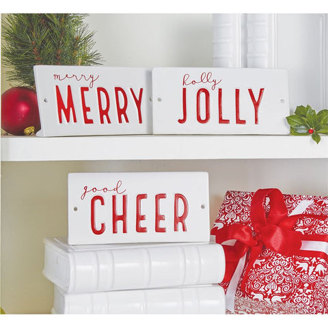 Ceramic Holiday Plaque Sitters (Sold Separately)