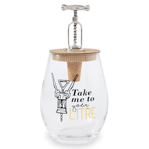 Corkscrew Wine Glass Set from Mud Pie - Time Your Gift - 4