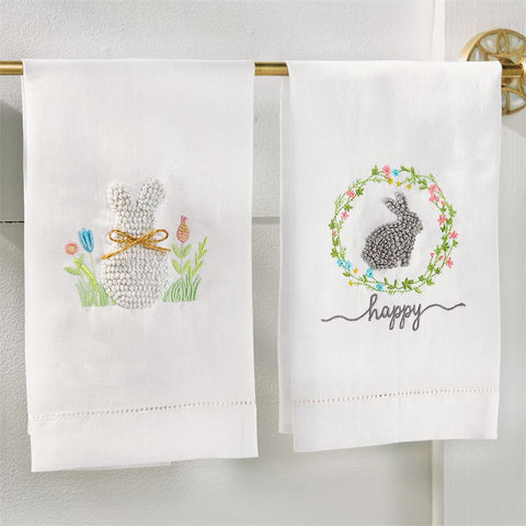 Easter French Knot Towels (each item sold separately)