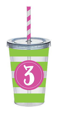 Girls 3 Acrylic Tumbler - Time Your Gift