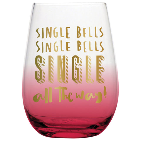 Single Bells Stemless Wine Glass - Time Your Gift