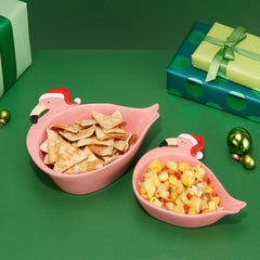 Flamingo Santa Bowls (Set of 2)