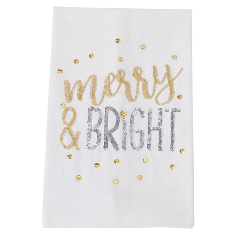 Sequined Holiday Towels (each item sold separately)