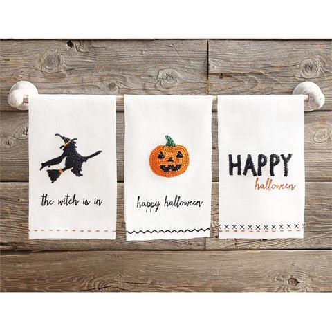 Halloween French Knot Towels (each item sold separately)