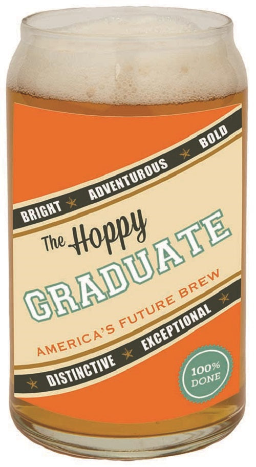 The Hoppy Graduate Beer Can Glass