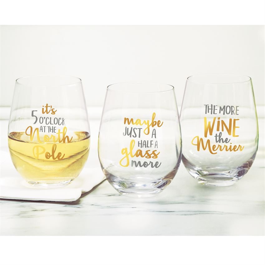 Christmas Stemless Wine Glasses (sold separately)