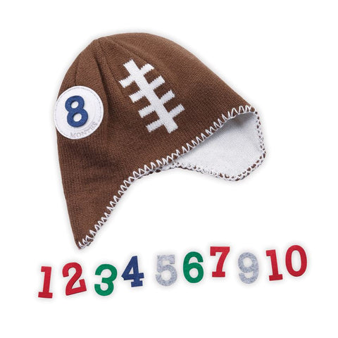 Monthly Milestone Football Hat - Time Your Gift - 2