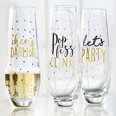 Stemless Party Champagne Glasses