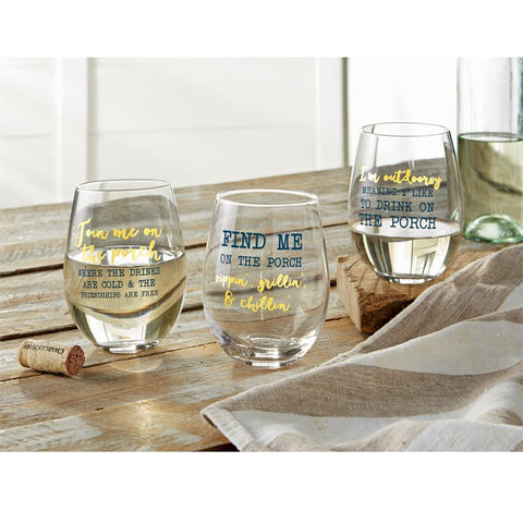 Porch Stemless Wine Glasses (sold separately)