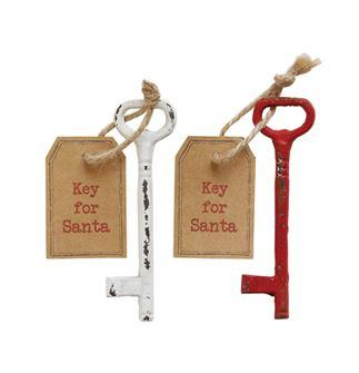 Cast Iron Rustic Santa Key