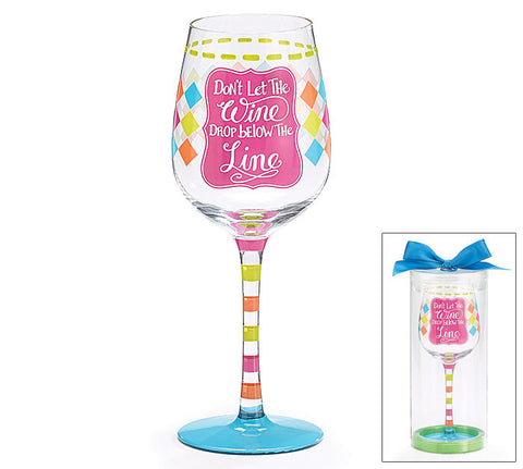 Wine Glass with Fill Line - Time Your Gift