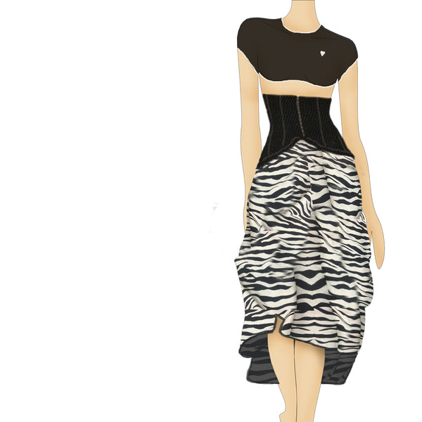 THE HIGH WAIST SKIRT - ZEBRA - REGINA NEMNI