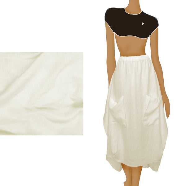 THE RAY SKIRT - white