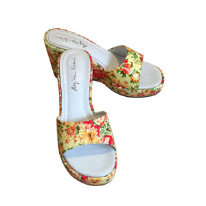 FLOWERY PATENT LEATHER SHOES - SAMPLE