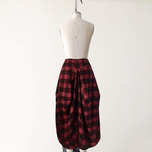 THE RAY SKIRT - Red Tartan