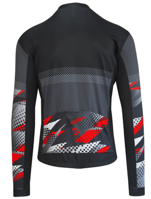 TEAM Long Sleeve Jersey - Red Flouro